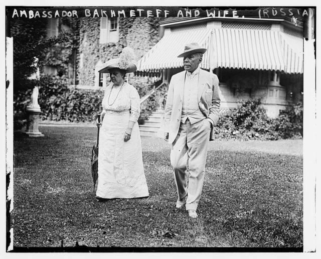 Russian Ambassador Bakhmeteff & wife