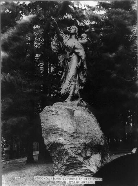 Sacajawea [sic] Monument in City Park, Portland, Oregon. Statue by Alice Cooper