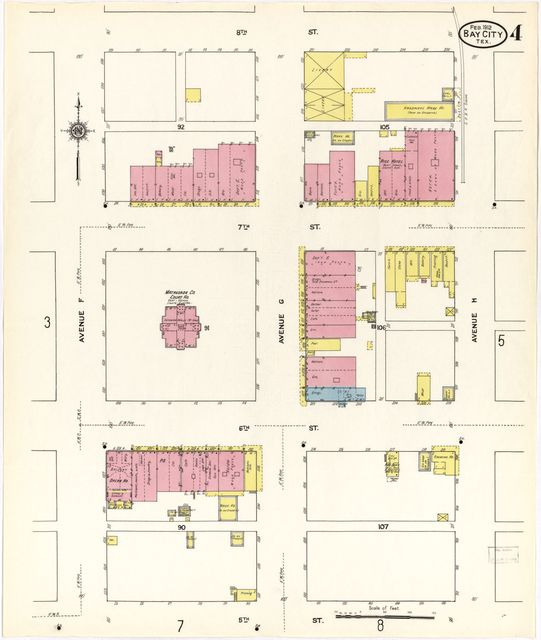 Sanborn Fire Insurance Map from Bay City, Matagorda County, Texas.