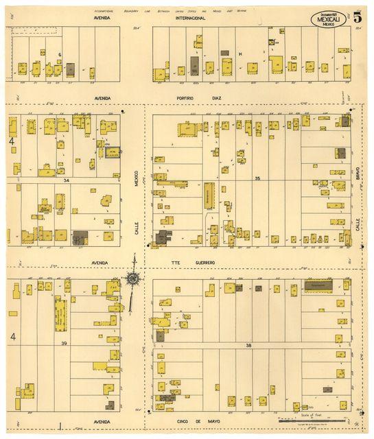 Sanborn Fire Insurance Map from Mexicali, Baja California.
