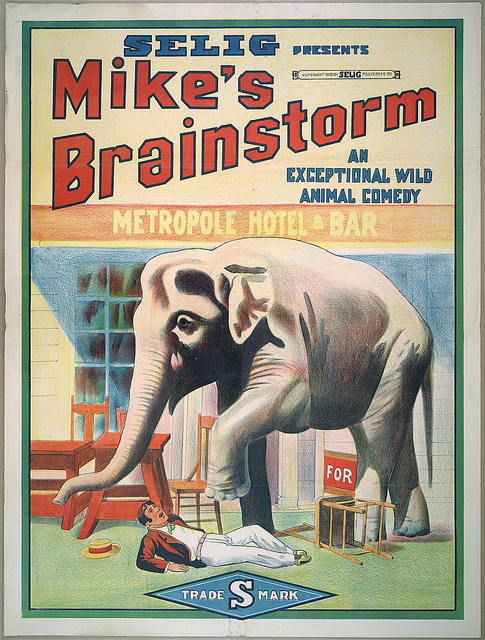 Selig presents Mike's Brainstorm An exceptional wild animal comedy.