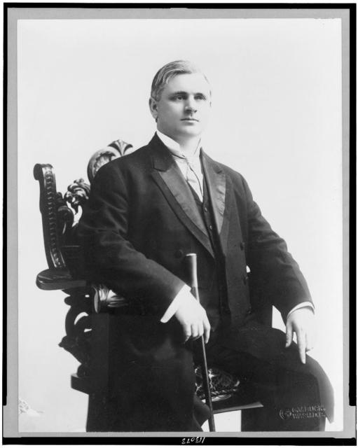 [Sen. Thomas P. Gore, three-quarter length portrait, seated, facing slightly right]
