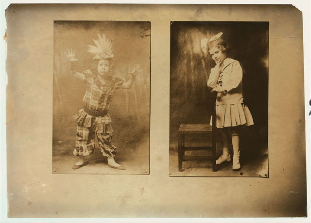 [Seven year old Ann Suter, and eight year old Andrey Shrier in costume. See photo and label 2937 and report by L.W. Hine. Location: [Washington (D.C.), District of Columbia]