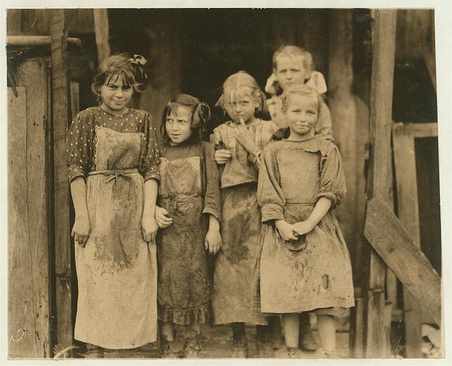 Some of the children who go to school half a day, and shuck four hours before school and several hours after school and eight or nine hours on Saturday. Maggioni Canning Co.  Location: Port Royal, South Carolina.