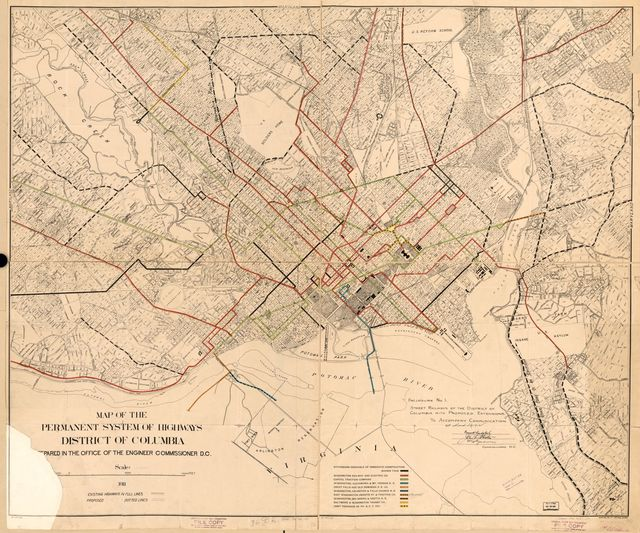Street railways of the District of Columbia with proposed extensions : to accompany communication of March 20, 1912.