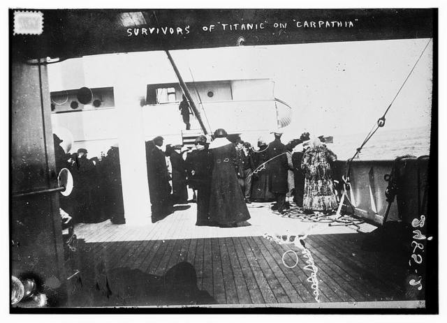 Survivors of TITANIC on CARPATHIA