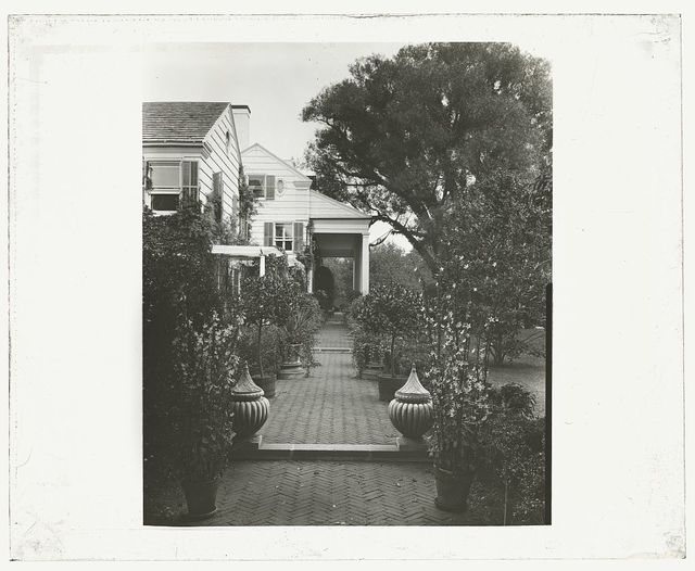 "[""The Orchard,"" James Lawrence Breese house, 151 Hill Streeet, Southampton, New York. Pathway to house]"