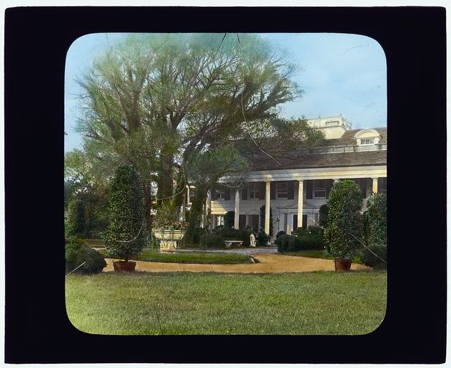"""[""""The Orchard,"""" James Lawrence Breese house, 151 Hill Street, Southampton, New York. Entrance drive]"""