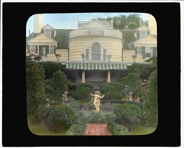 """[""""The Orchard,"""" James Lawrence Breese house, 151 Hill Street, Southampton, New York. Fountain]"""