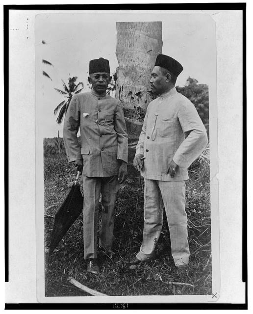 The present sultan and Haji [sic] Butu - he has since been elected senator from Sulu of the Philipp[...]