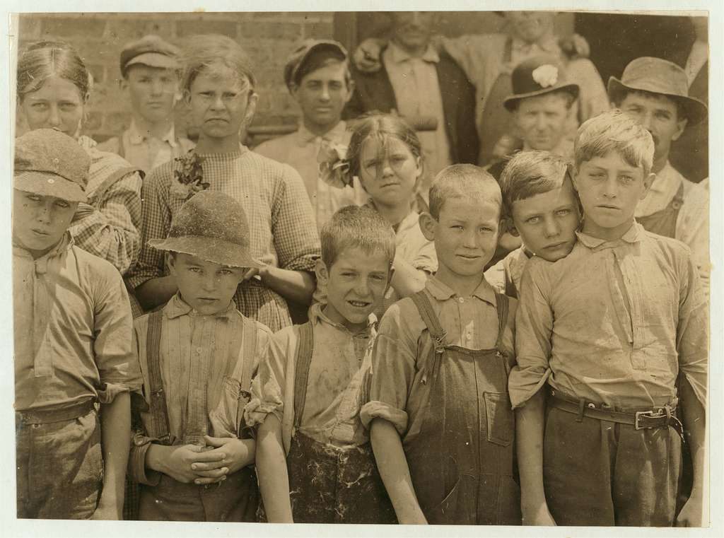 The smallest boy is a band boy, next is a doffer. The smallest girl is a spinner. Work in Cowpers' i.e., Cowpen's? Manufacturing Co., S.C. (See Label 2970). Location: Cowpens, South Carolina