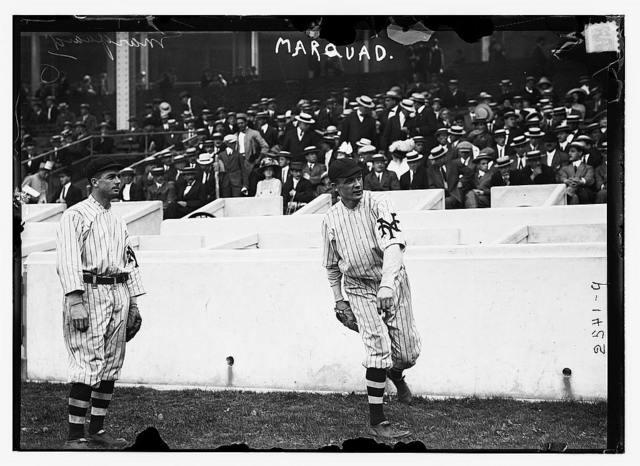 [Tillie Shafer (left) & Rube Marquard (right), New York NL, at Polo Grounds, NY (baseball)]