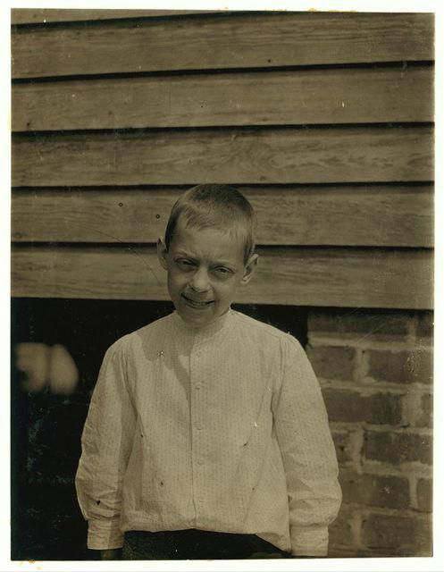 "Tom Polk ""goin on 13."" Prematurely old, works in Beaumont Mill, Spartenberg [sic], S.C.  Location: Spartanburg, South Carolina."