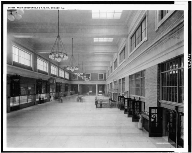 Train concourse, C. & N.W. Ry., Chicago, Ill.