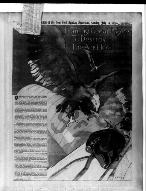Training Great Eagles to Destroy the Air Fleet [New York American, 14 July 1912]
