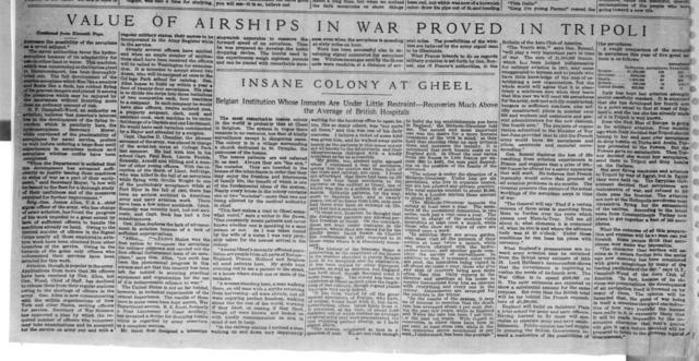 Value of Airships in War Proved in Tripoli [The Sun, 17 March 1912]