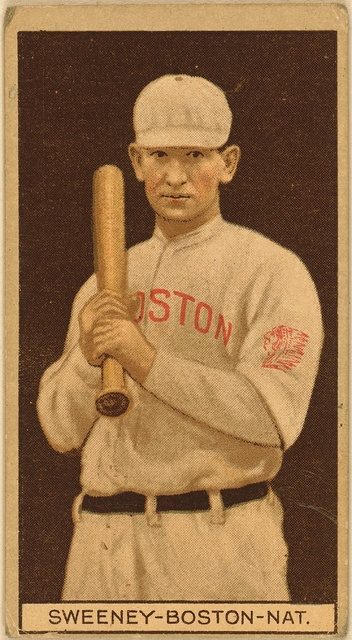 [William J. Sweeney, Boston Braves, baseball card portrait]
