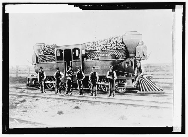 Woodburning engine on Canadian Pacific R.R. (Labor)