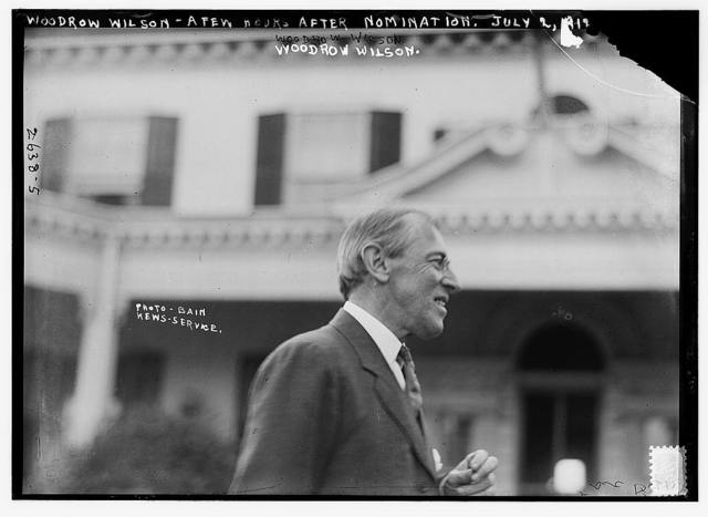 Woodrow Wilson a few hours after nomination, July 2, 1912