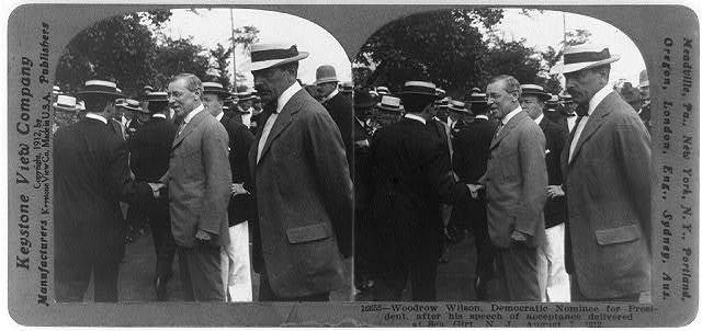 Woodrow Wilson, Democratic nominee for President, after his speech of acceptance delivered at Sea Girt, N.J.