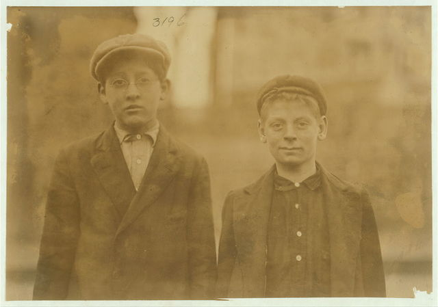 Would these cotton-mill boys stand a test for physical fitness? Work in Riverside Mill, Olneyville, Providence.  Location: Providence, Rhode Island.