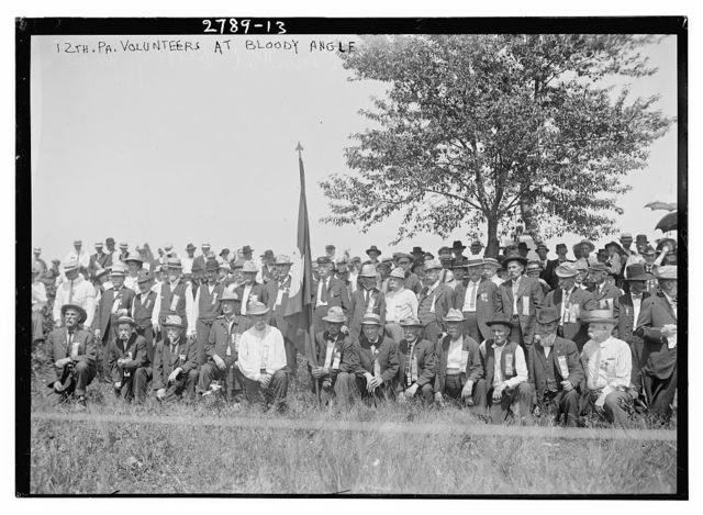 12th Pa. Volunteers [i.e., 72nd Pennsylvania Infantry] at Bloody Angle