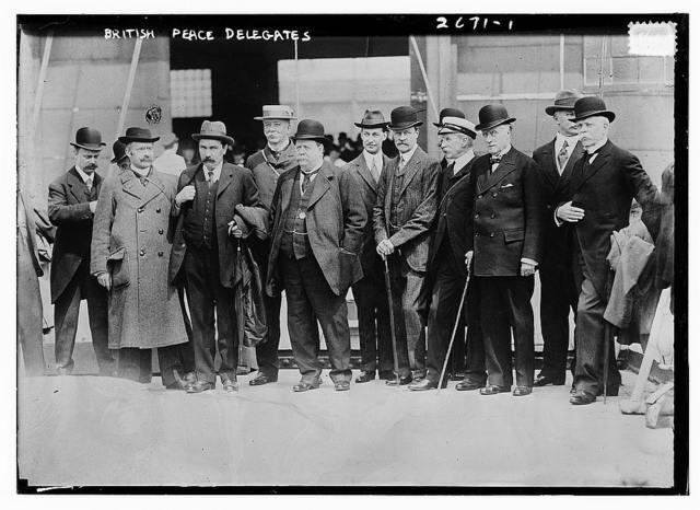 British Peace delegates