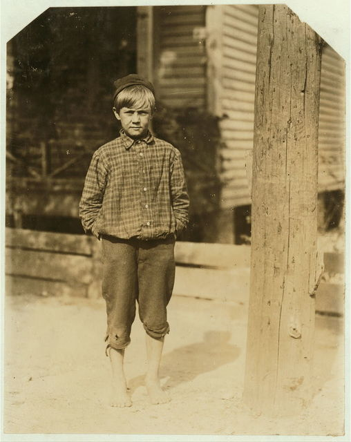Bruce Tillery, 10 years old. Swept in Eagle Mill, Columbus, Ga. last summer and going to work again next week. Been toting 13 dinners a day. Mother gets most of the money. Several brothers in the mill. 155 2nd Ave. Girard, Ala.  Location: Columbus, Georgia.