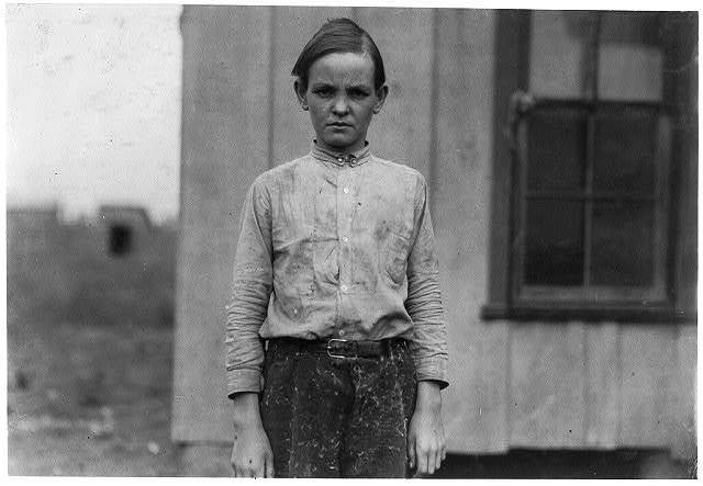 Charlie Lott a thirteen year old doffer in cotton mill at West. His Family Record says born March 12, 1900. Has been working for a year in the mill at Laurel, Miss. Came here recently and was put to work at once although he was in bad shape physically. Maybe malaria, maybe hookworm.  Location: West, Texas.