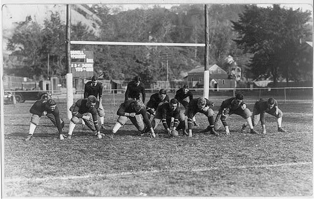 Cornell football team line-up
