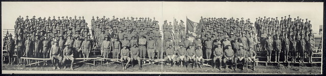 [Cos. G, H, & M Engineers Mounted Platoon (Banner Open), Texas City, Tex.]