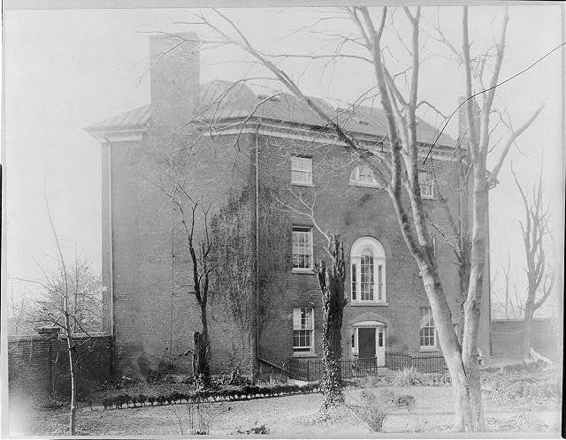 D.C. Washington. Octagon House. 1913. Exterior. Rear view