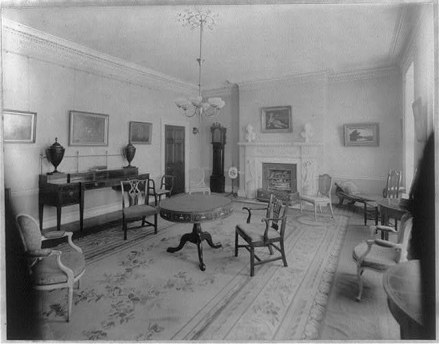 D.C. Washington. Octagon House. 1913: interior