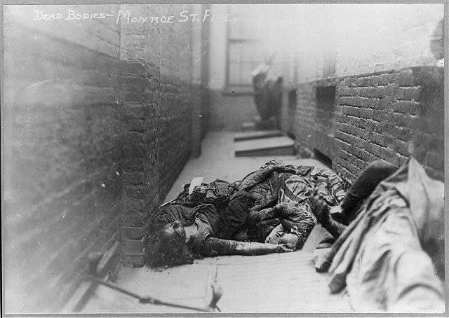 Dead bodies, Monroe St. fire