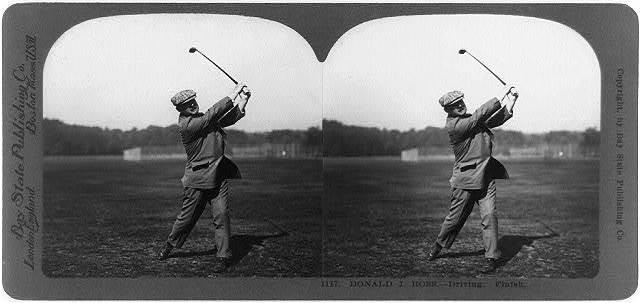 Donald J. Ross--driving, finish [of golf shot]