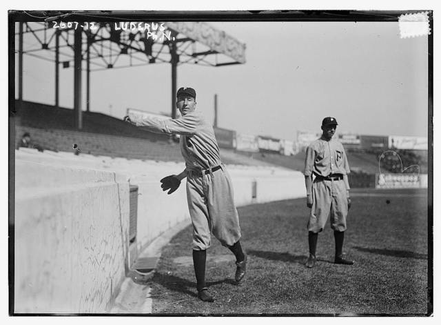 [Eppa Rixey (left) & Erskine Mayer (right), Philadelphia NL, at Polo Grounds, NY (baseball)]