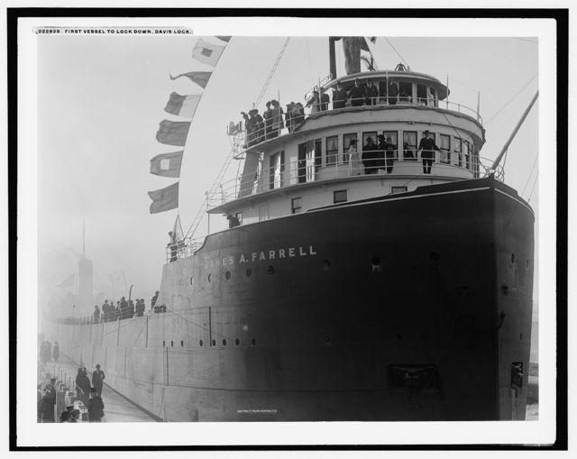First vessel to lock down, Davis lock