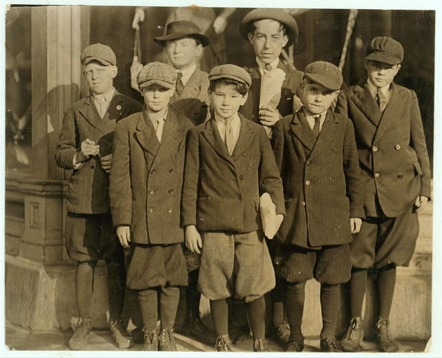Furchgott's Department Store. Employs large number of youngsters as cash boys and wrappers. Counted nine apparently under 12. One was 9, he said, and other 11. You[n]gest work for $3. a week.  Location: Jacksonville, Florida.