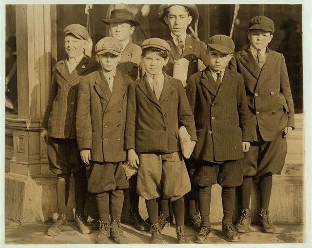 Furchgott's Department Store. Employs large number of youngsters as cash-boys and wrappers. Counted nine apparently under 12. 1 was 9, other 11. Youngest work for $3. a week.  Location: Jacksonville, Florida.