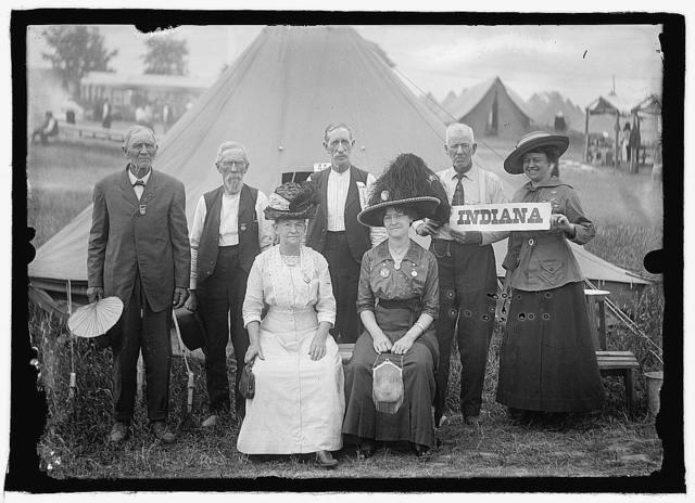 G.A.R. Veterans, Gettysburg, Pa., 1913