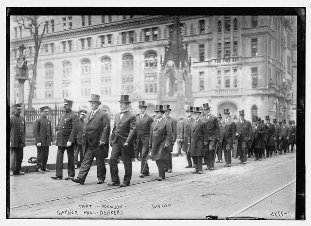 Gaynor pall bearers, Taft, Adamson, Waldo
