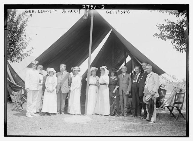Gen. Leggett [i.e., Liggett] & party - Gettysburg