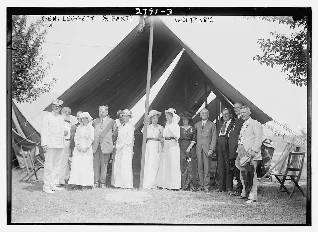 Gen. Leggett i.e., Liggett & party - Gettysburg