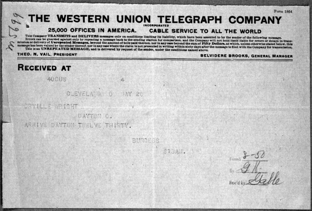 General Correspondence:  Burgess Company and Curtis, 1913
