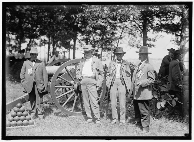 GETTYSBURG REUNION: G.A.R. & U.C.V. VETERANS OF THE G.A.R. AND OF THE CONFEDERACY, AT THE ENCAMPMENT