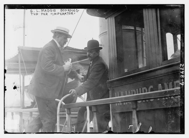 "G.L. Maggio boarding tug for ""IMPERATOR"""