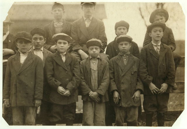 Group of some of the youngest workers in the Merrimack Mills. Everyone has a steady job. See Hine report.  Location: Huntsville, Alabama.