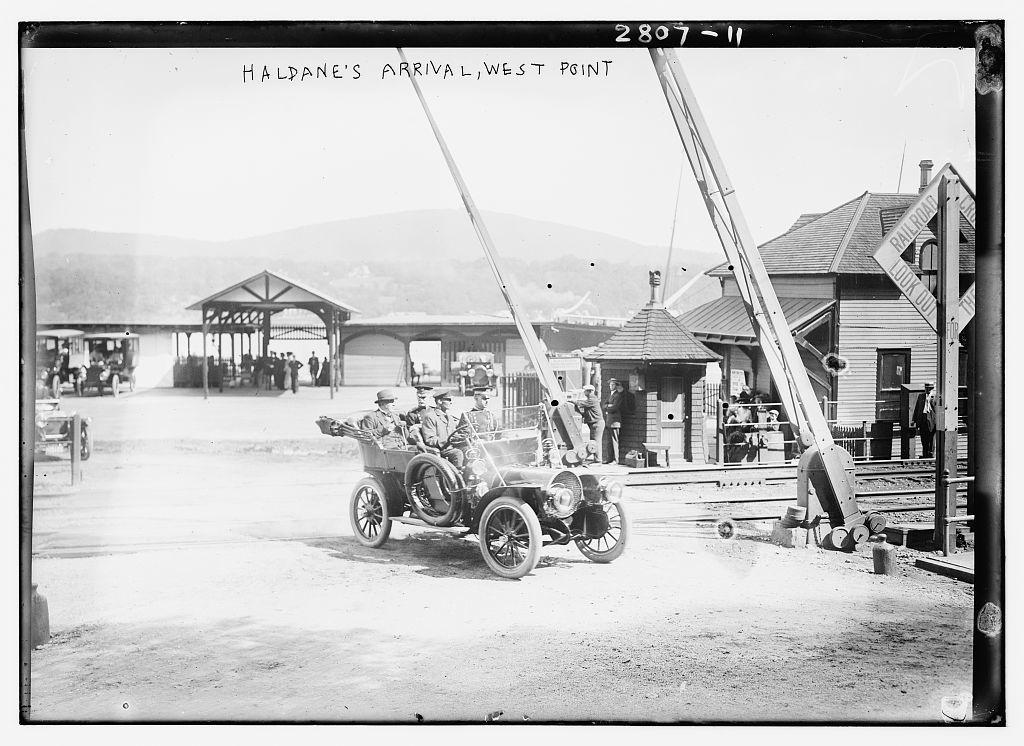 Haldane's arrival, West Point