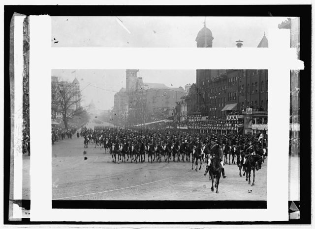 Inauguration, 1913; black horse troop