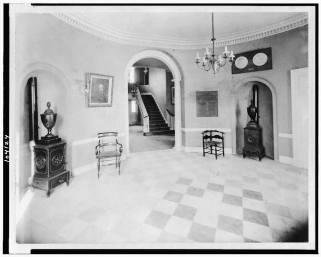 [Interior of Octagon House showing circular vestibule, Washington, D.C.]
